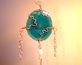Green Agate Suncatcher