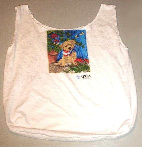 Recycled reusable spca t shirt bag tote for Reusable t shirt bags