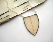 Arrowhead Skeleton Leaf Necklace- golden