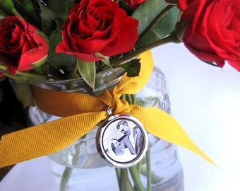 Wedding Bouquet Memory Locket- holds photos, charms, keepsakes
