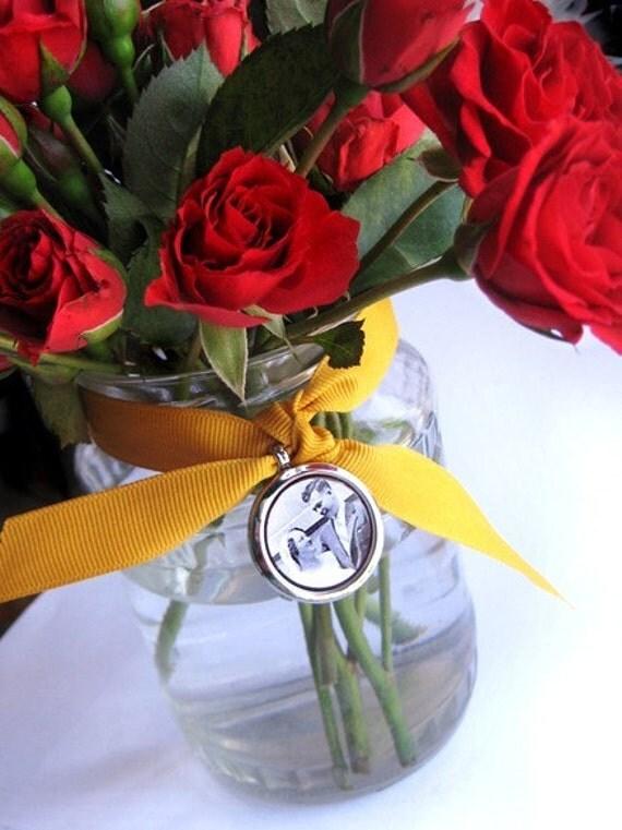 Wedding Bouquet Memory Locket- holds photos, charms, keepsakes