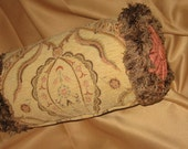 Bolster Pillow with Panache 14x8