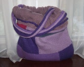 Mulitcolored Lilac Knit Bag