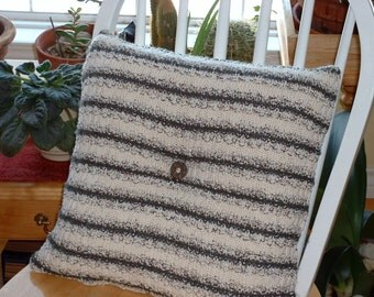 Recycled Striped Cotton Sweater Pillow