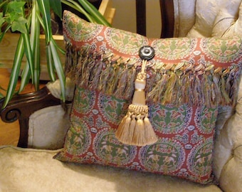 Re-made Silk Scarf Pillow