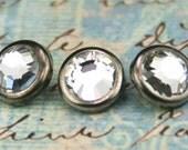 10 cristal cheveux Snaps - tour Rim bronze vieilli édition--faite avec pierres de strass cristal Swarovski Element