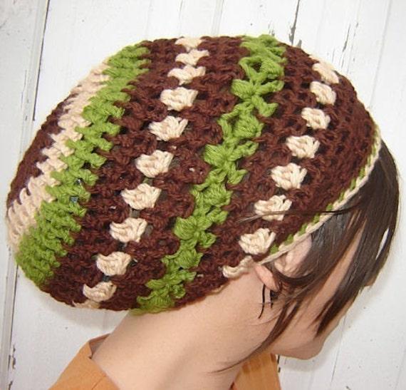 PDF Crochet  Pattern - Forest Slouchie Tam