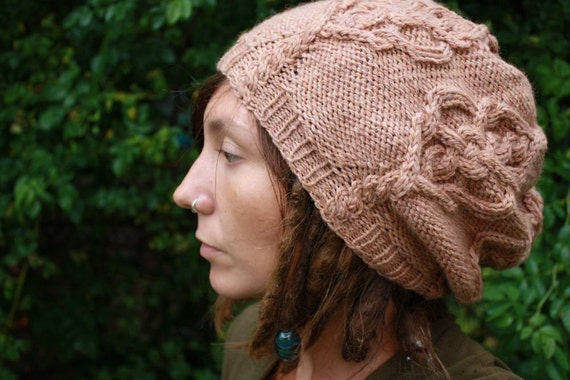 Skeleton Knitting Pattern : PDF Knitting Pattern Skeleton Key Slouchie by SandAndSkyCreations