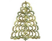 Christmas Tree Tatted Ornament - FREE SHIPPING