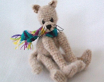 Kitty Cat Pattern - Thread Crochet Pattern - Thread Animal Pattern - PDF Format