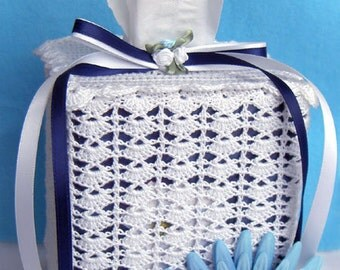 Tissue Box Cover - Crochet Lace - Your Color Choice