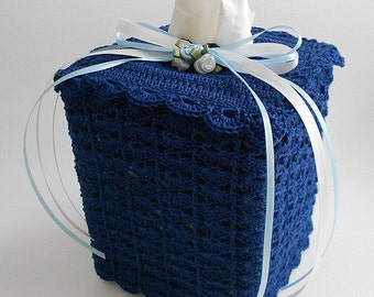 Crochet Tissue Cover - Tissue Box Cover - Crochet Lace - Your Color Choice