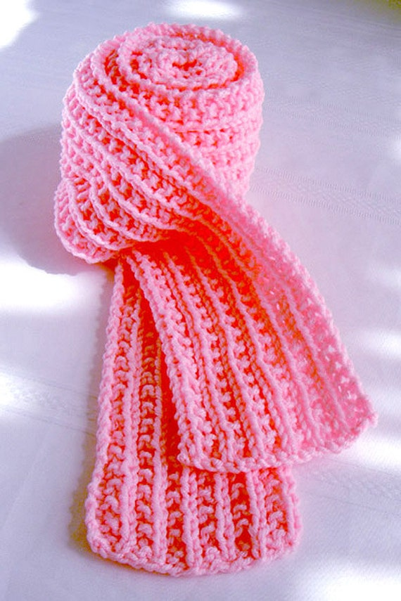 Hand Knit Scarf - Bubble Gum Pink - Ready to Ship
