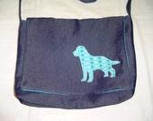 Blue Dog Messenger Bag