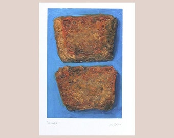 SCRAPPLE -local Philly food painting (print)
