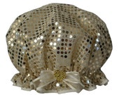 Ladies Shower Cap - Honey Sequin