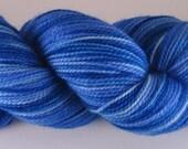 HANDPAINTED SUPERWASH MERINO WOOL SOCK YARN Blue Roses