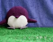flat n fat penguin - medium stuffed animal - choose your colors