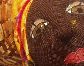 Art Doll, African Woman- AFRI COCO- this one is SOLD, Made to Order, Home Decor, Art Doll, Cloth Dolls, Sculpture, michelle munzone, art