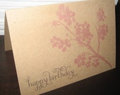 Happy Birthday Blossom card - set of 3