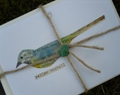 Reserved for Helen HAND PAINTED BIRD card set