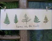 HOME IN THE WOODS original botany plate