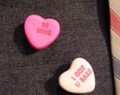 Valentine Candy Heart Pin  FREE SHIPPING