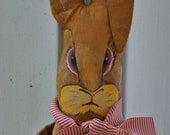 Wiley Rabbit Contemporary Folk Art Doll Easter Bunny OOAK