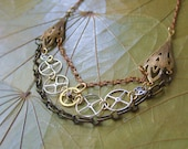 This is an airship Steampunk Necklace