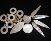 Mother of Pearl MOP natural shade assortment