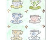 happy tea time aceo mini print