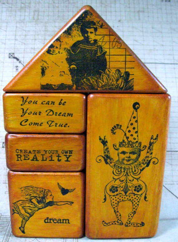 CREATE YOUR Own REALITY - Altered Art Blocks