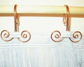 12 Handcrafted Solid Copper Swirl Shower Curtain Hooks Home Decor Metalwork