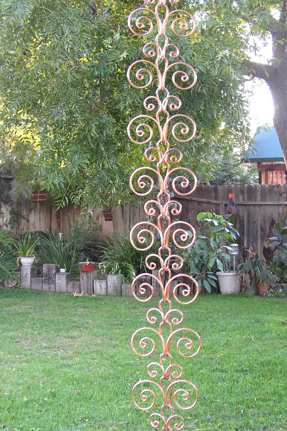 Solid Copper Swirl Rain Chain By Twistsonwire On Etsy