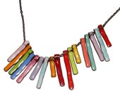 "artisan enamel necklace ""mega wings"" by tina rice"