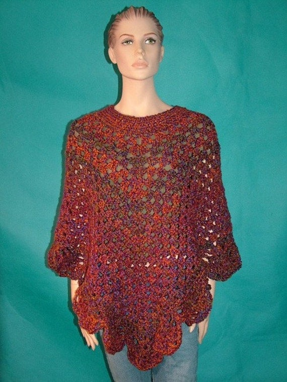 Free Crochet Pattern Martha Stewart Poncho Burak For