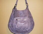 Hand-Stitched Python Shoulder Bag