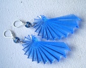 Neon Nautilus Earrings - Royal Blue