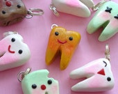Customize your Kawaii Tooth Charm - cavities, colors and faces