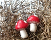Even Smaller Toadstool Earrings - Woodland Collection