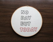 Hand Embroidery Hoop - Another Day - CLEARANCE