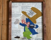 Nonsense - Appliqued Library Catalog Cards (The Mad Hatter) - SALE