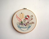 Hand Embroidery Hoop - Spring Salad