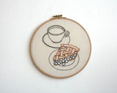 Hand Embroidery Hoop - Breakfast of Champions