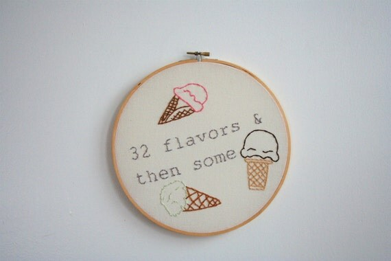 Hand Embroidery Hoop - 32 Flavors - SALE