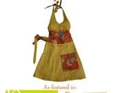 Reversible halter apron pattern