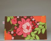 retro floral checkbook cover