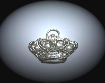 LARGE Custom queen or princess crown in FINE SILVER