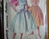 Simplicity 1191 vintage 50s dress pattern bust 32
