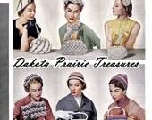 Post-WWII Swing Era Hiawatha Crochet Book Millinery Hats Bags Purse Patterns 1954